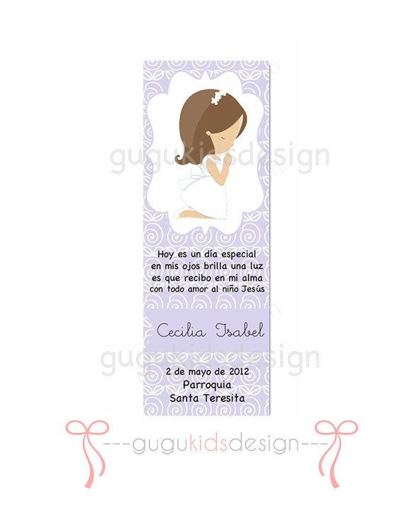 DIY Printable Girl First  Communion Favor by GUGUKIDSDESIGN