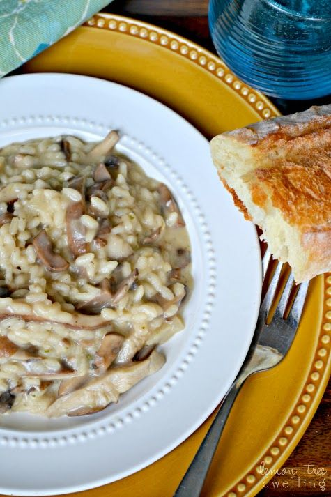 Creamy Mushroom #Risotto - flavor filled and ready in just 30 minutes!