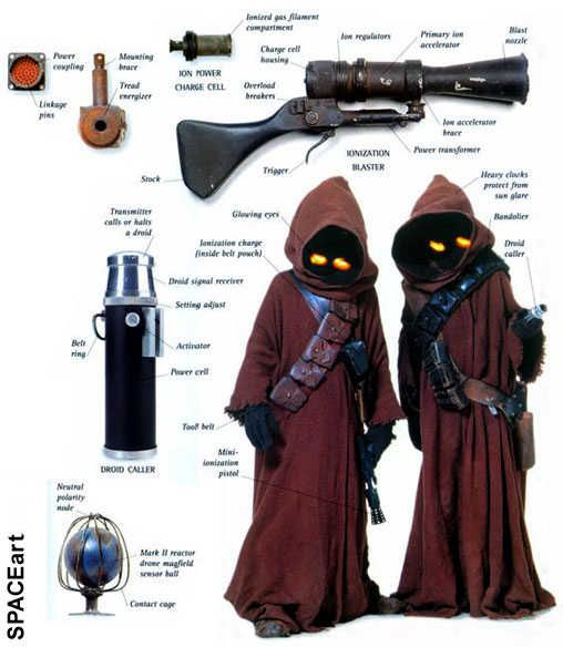 Star Wars: Jawa Ionization Blaster, Fertig-Modell ... https://spaceart.de/produkte/sw137.php