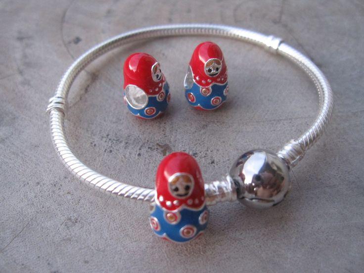 Pandora Charm Matryoshka,pandora charms,pandora bracelet,925,sterling silver charm,pandora,pandora style charm,pandora beads,pandora jewelry by ALOR925 on Etsy