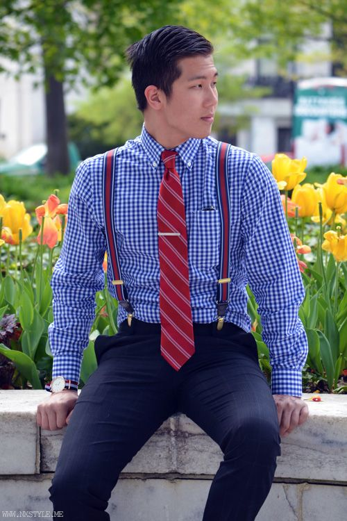 nxstyle: BLOGGED: SPRING TIME IN DC. Full post here! | See more about Preppy Guys, Suspenders and Spring Outfits.