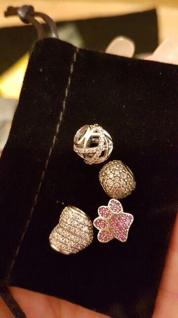 925 Prata Esterlina Encantos De Cristal Do Coração com Pegada, borboleta, Minnie Beads Fit Pandora Pulseira Colar DIY Jóias Loja Online   aliexpress móvel