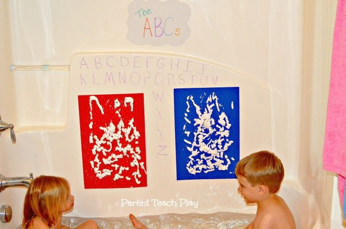 Easy DIY Bath Drawing Board - Parent Teach Play