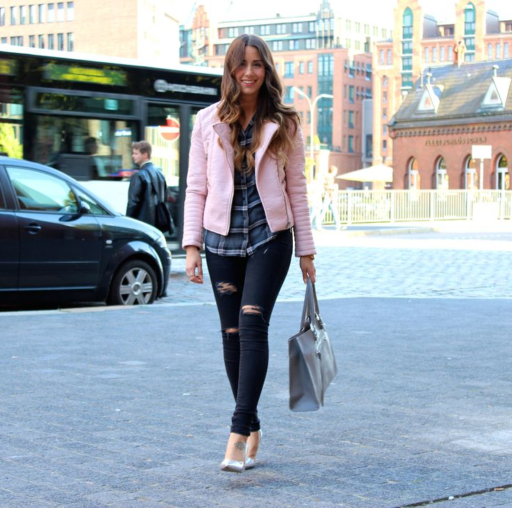 Ripped Jeans and Check Shirt - LOVE & URBAN http://loveandurban.com/ripped-jeans-check-shirt/