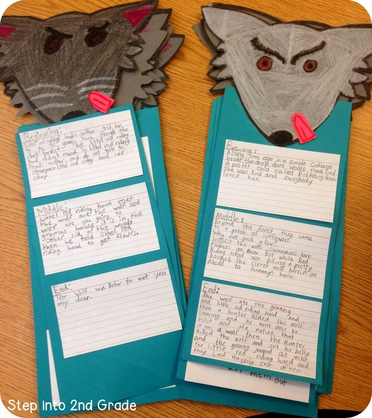 Cute retell activity: Students write about the beginning, middle, and end of the story on index cards.
