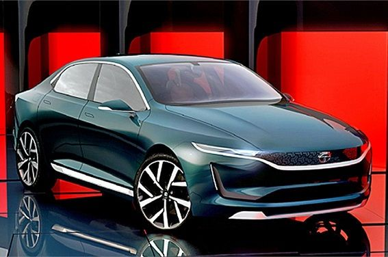 #car aMotors, India's largest #car maker, announced its new electric concept sedan EVision at #GenevaMotorShow in 2018.