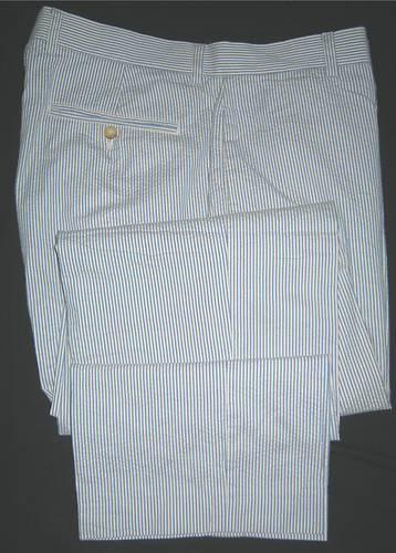 J.CREW FLAT FRONT REGULAR FIT SEERSUCKER PANTS MEN'S 36 x 34
