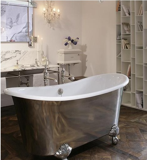 73 best images about clawfoot tubs on pinterest cast for Modern claw foot tub