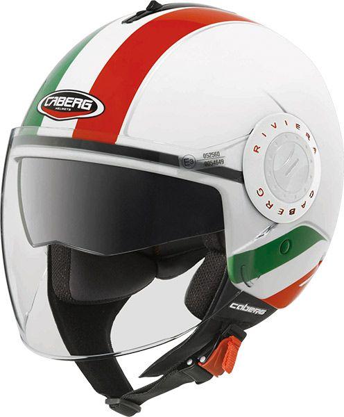Le casque demi-jet Caberg Riviera V2 Italia /// Caberg Riviera V2 Italia motorbike helmet