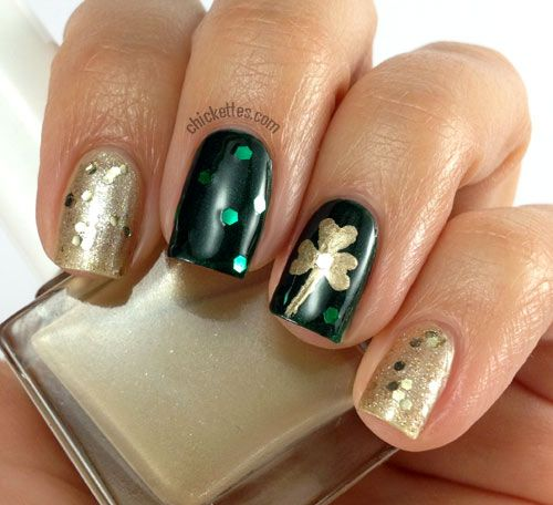 127 best st patricks day nail design images on pinterest chickettes st patricks day shamrock nail art prinsesfo Images