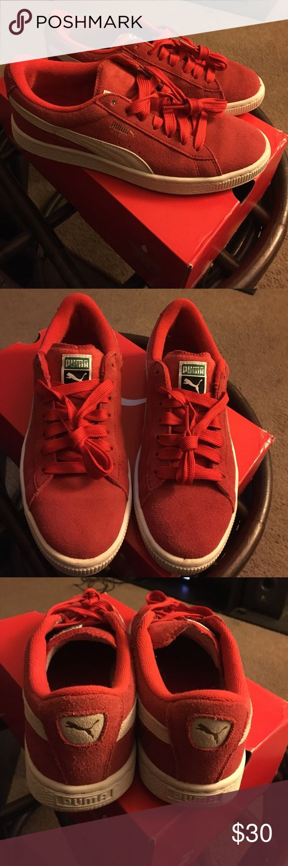 Puma Suede Puma Classic Pune Suede. Worn twice. Comes with box, red laces and white laces. Puma Shoes Sneakers
