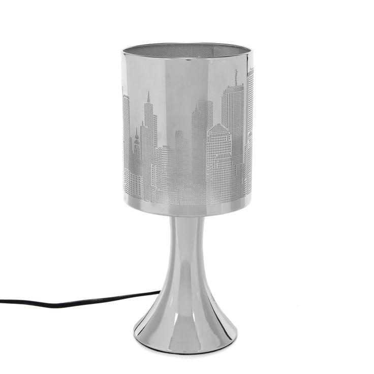 Lampe sensitive 28cm en métal ajouré - Touch / New York - Les lampes à poser-Luminaires-Salon et salle à manger-Par pièce - Décoration intérieur - Alinea