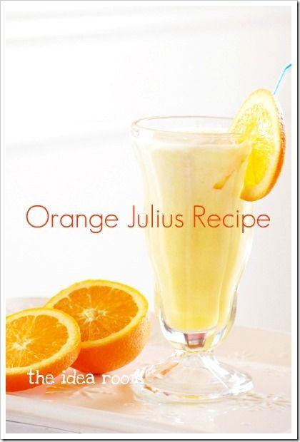 Orange Julius recipe. I'll have to try this!: Orange Julius, Ideas Room, Originals Recipe, Orangejulius, Food, Beverages, Julius Recipe, Drinks, The Originals