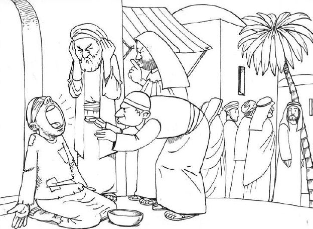 Jesus Heals Color Sheet
