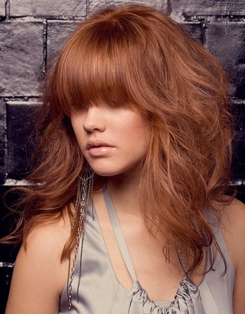 another strawberry blonde. i love the bangs, but my mom wont let me cut my hair:(
