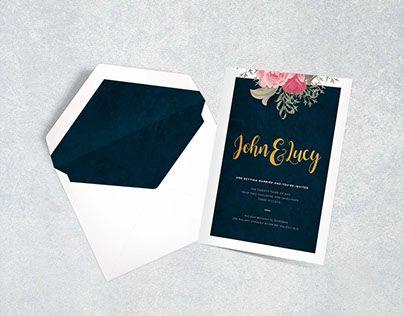 Wedding Invite Design www.katiewass.com.au