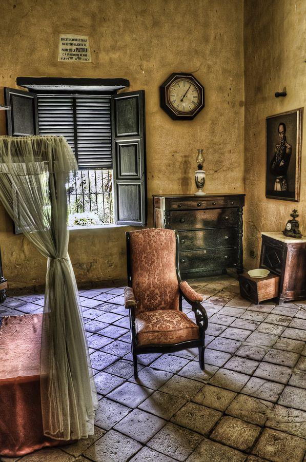 The room of Bolívar by Javier López Peña. This is the room where Simón Bolívar died, located in Quinta de San Pedro Alejandrino, Santa Marta