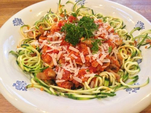 No-Carb Spicy Courgetti