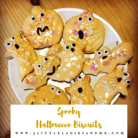 These spooky halloween biscuits are really easy to make, my toddler really enjoyed making them and decorating them. We added popping candy for a 'trick or treat' surprise. You can find the recipe and step by step instructions to make your own by clicking the link below:
