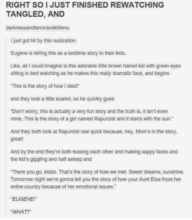 Probably not true because in the sequel short it was them getting married and they didn't have kids