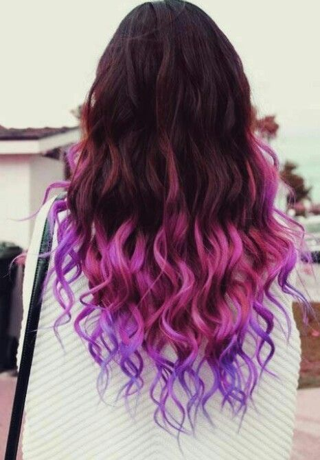 Pink & purple ombre hair i want hair like this too