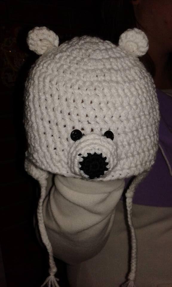 polar bear hat - jegesmedve sapka