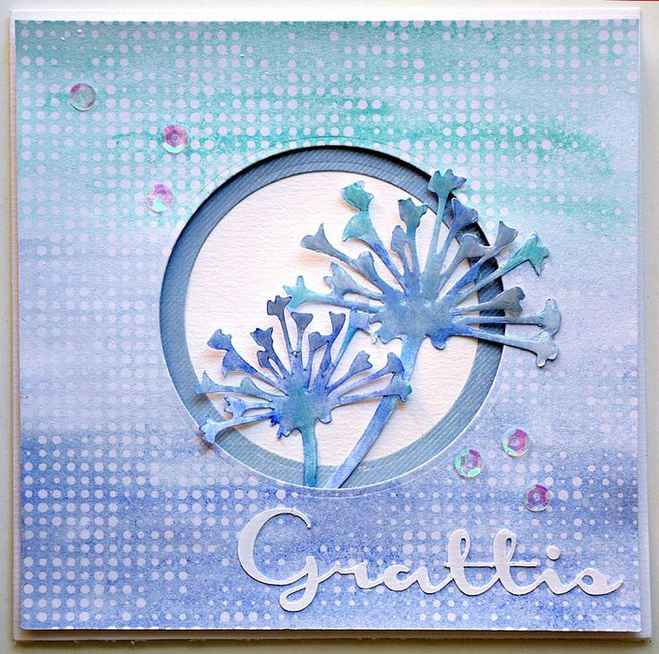 Card in blue by Helens Color Life
