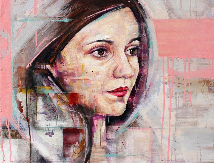 Pierre Chabiron, Peinture, art contemporain, couleur, acrylic, Femme, humain