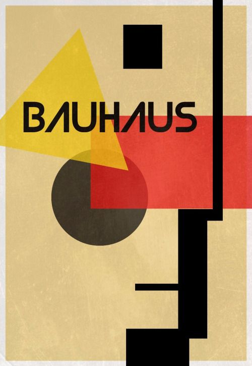 Bauhaus Inspired Poster  by:  Unknown
