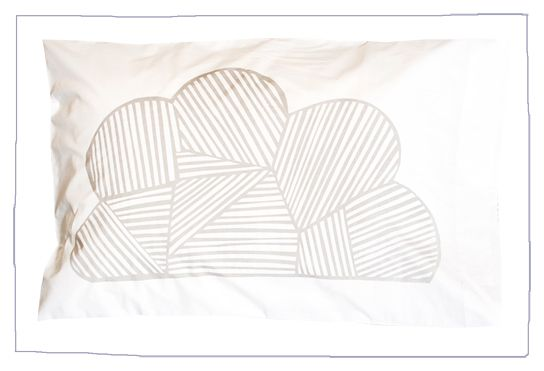 Hand printed 100% cotton pillowcase, Australian made and printed with water based ink.