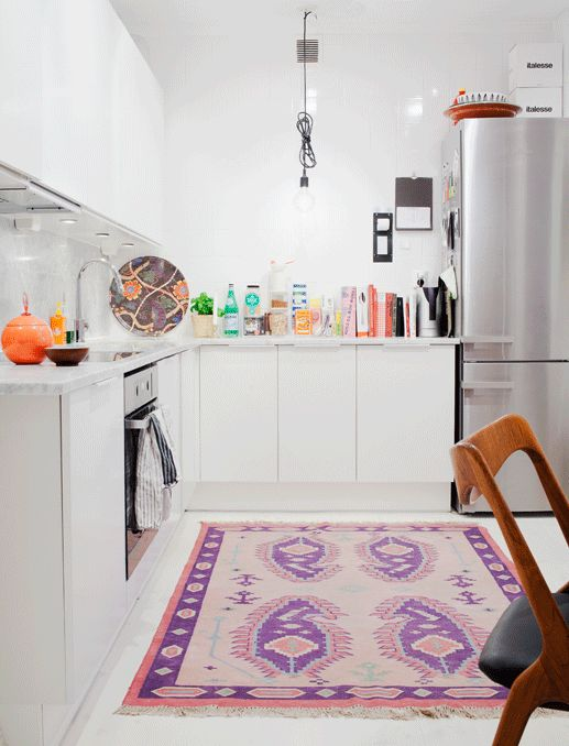 Rug in the kitchen -