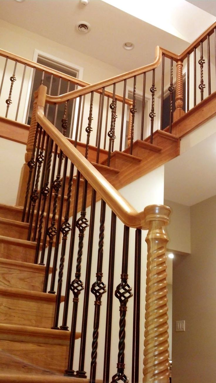 Best American Cherry L Shaped Stairway Made Of Traditional 640 x 480