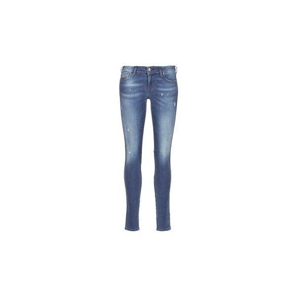 Diesel GRACEY Skinny Jeans (510 BRL) ❤ liked on Polyvore featuring jeans, blue, trousers, women, skinny fit jeans, blue skinny jeans, diesel skinny jeans, blue jeans and cut skinny jeans
