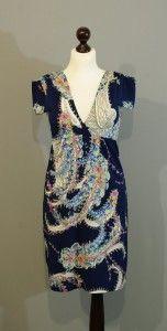 синее платье с пейсли