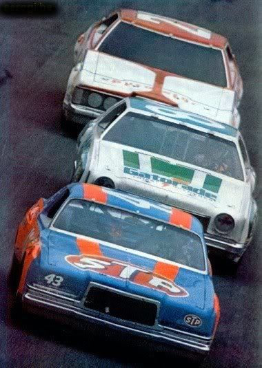 1978 Daytona 500:  #43 Richard Petty, #88 Darrell Waltrip, #21 David Pearson.