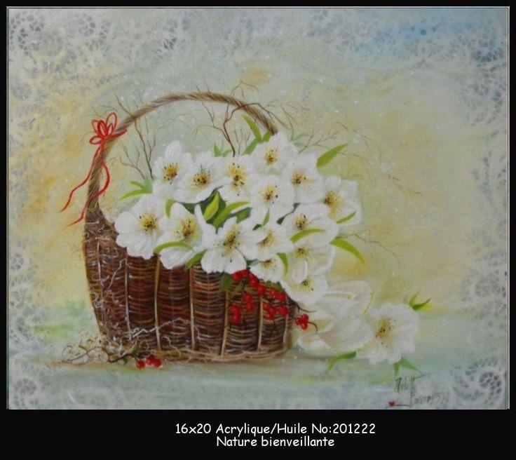 Panier de fleurs suaves
