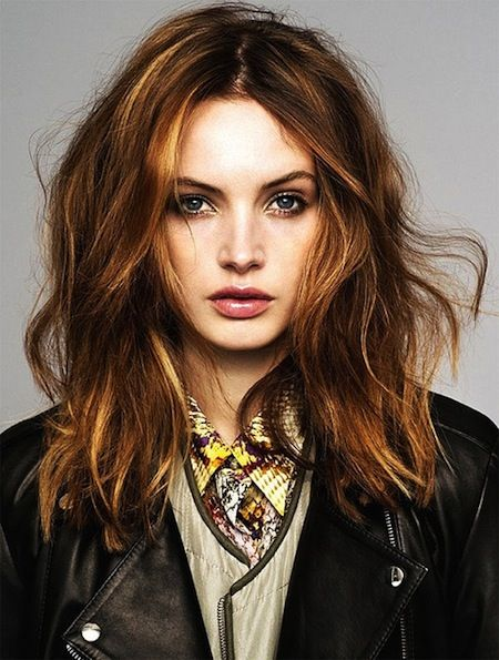 Medium hairstyles for 2015 | messy loose curls for medium hair with center part, beachy waves, loose curls.