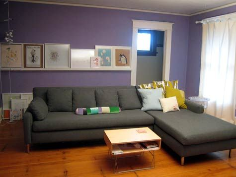17 best images about ideas for my new apartment on - Grey and purple living room walls ...