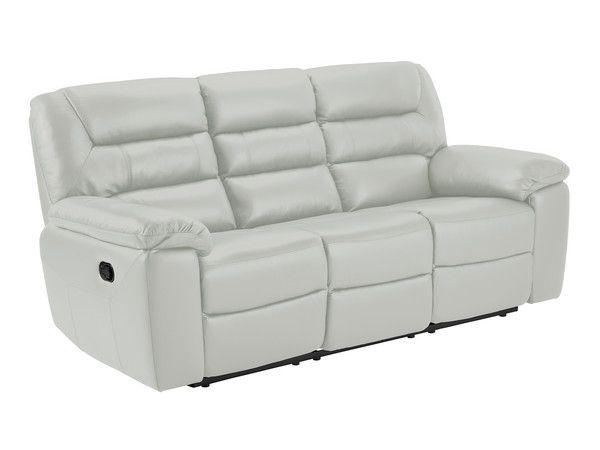 Grey Leather Sofas 3 Seater Manual Recliner Sofa Devon Range Oak Furnitureland Grey Leather Sofa Reclining Sofa Leather Sofa