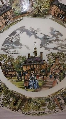 Wedgewood Colonial Williamsburg Virginia Governors Mansion Plate
