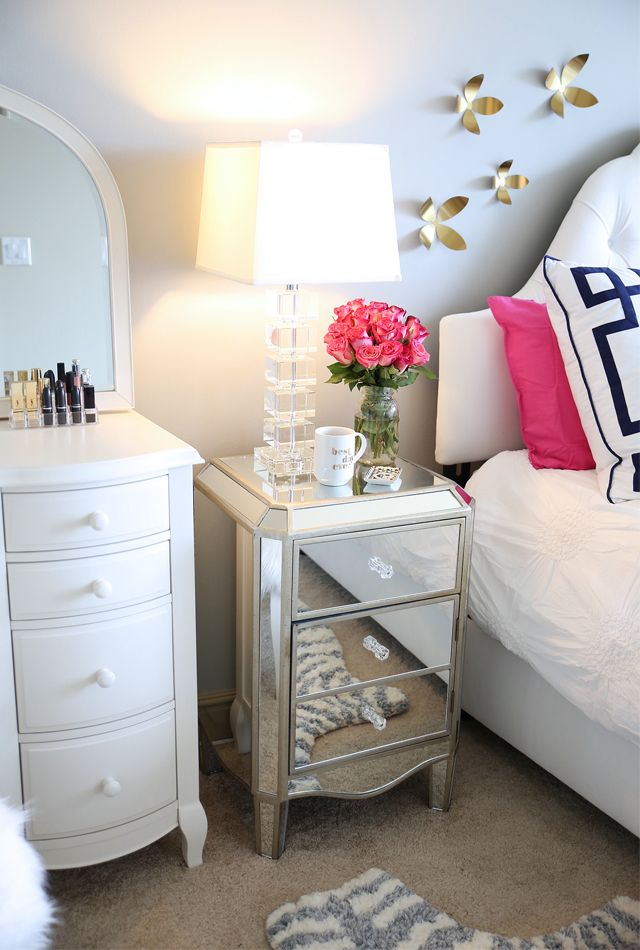 Mirrored nightstand