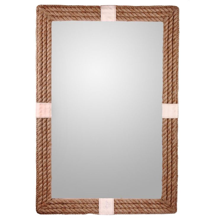 canvas wrapped rope mirror