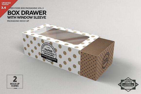 Download Box Window Sleeve Packaging Mockup Sleeve Packaging Design Mockup Free Free Packaging Mockup
