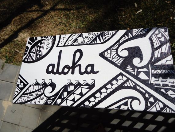 Aloha custom Polynesian design canvas via Etsy