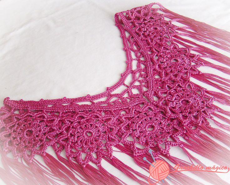 Ganchillo : Mantoncillo de flamenca en ganchillo con hilo de seda