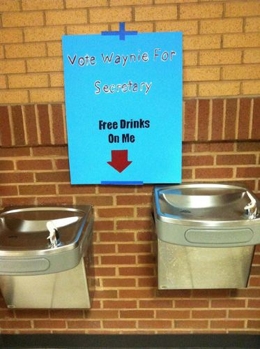 Free Drinks - 25 Hilarious Student Election Posters | Complex