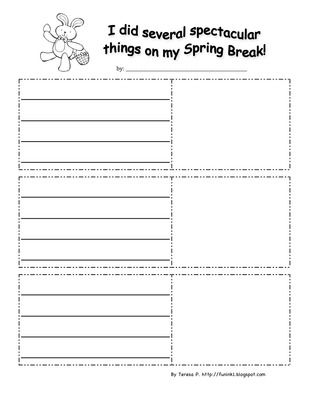 back from spring break writing activities
