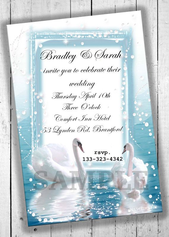 Wedding Party Invitations Printable Party by ClairesInvites