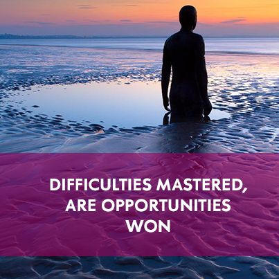 Difficulties mastered.