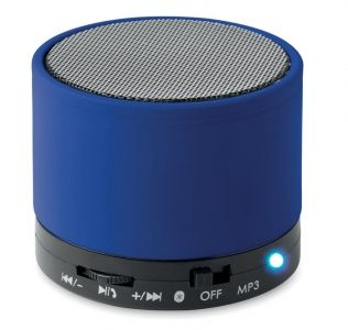 Promotional wireless round bass speaker with SD card port